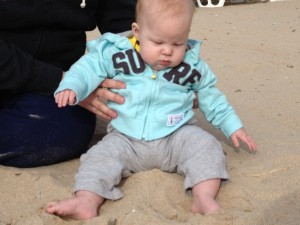 "I got my ""toes in the sand""! Riley's first trip to Rocky Point!"