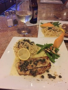 Saturday night special ... Flounder Piccata - que rico!